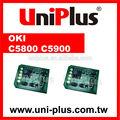 Para OKI C5800 C5900 OKI Printer Chip de redefinição de Toner