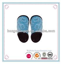 blue emboss bear long file astra women's winter mule slipper