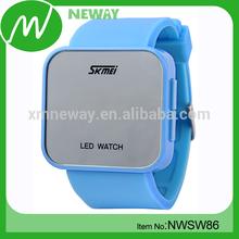 fashion unisex light up silicone fashion led watch vogue watch 2014