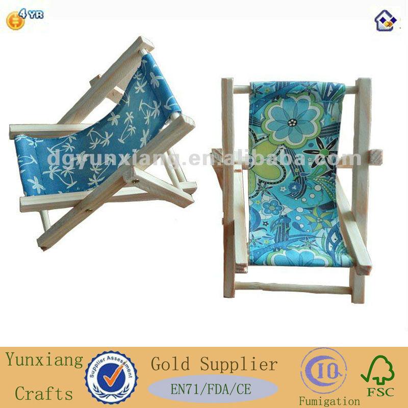 Artesanato madeira titular de telefone celular / cadeira de praia