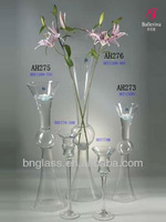 Clear Tall Glass Trumpet Vase