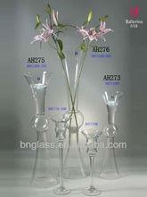 Clear Tall Glass Trumpet Vase