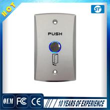 Metal door access push button switch