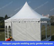 Hexagon pagoda wedding party garden marquee 6x12m