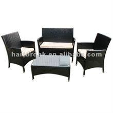Knock Down Rattan Garden Furniture Sets black color