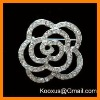 Rhinestone fashion flower brooch jewelry made in China