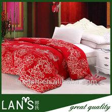 Wedding soft wool quilt+ 100% cotton fabric quilt
