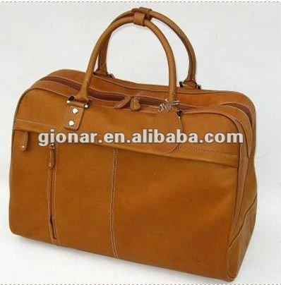 Latest leisure fashion ladies genuine leather travel bag