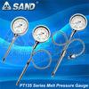 melt pressure and temperature gauge for high temperature