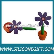 customize flower silicone pen