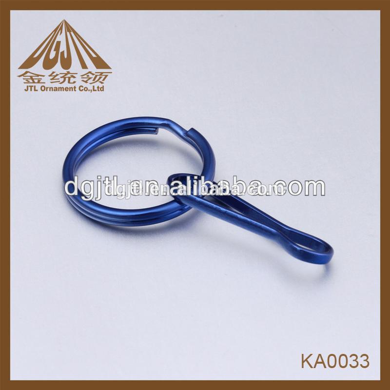 de metal de moda los anillos split cordón gancho