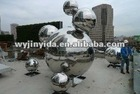 stainless steel garden decoration sphere/ball.hollow sphere
