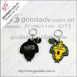 Fashion Cartoon Shaped customized logo soft pvc 3d keychain for promotion