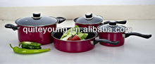 LOVE COOK 7PCS iron cookware with SGS certificate
