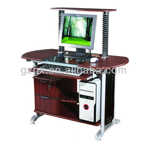 Gx 205 grande table dessin de table avec ordinateur bois et bureau en verre - Table ordinateur verre ...