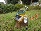 Solar power resin craft sensor bird light