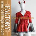 caliente venta de vestuario para las mujeres de color rojo de la cubierta de encaje sexy disfraz cleopatra