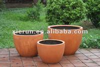 2012 european hot sell light weight waterproof fiber clay flower pot