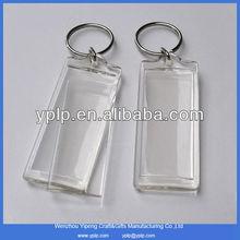 Promotion luxury Acrylic keychain,clear Plastic Keyring,Acrylic Photo frame Key Chain