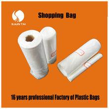 custom fresh fruit PE transparent plastic bags on roll