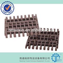 1000 Flush Grid 84mm Width Plastic Modular Conveyor Belt for Flitering Water