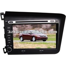 2 Din Car DVD Player for Honda New Civic(2012 Model) with 8CD Virtual,USB,SD,FM,IPOD,BT,TV,GPS and IPHONE Menu
