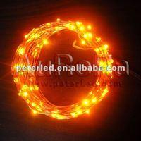 10m yellow led copper string light