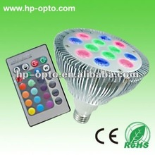 Hot sale!!12W RGB LED spot lighting with RGB remote controller 16 colors