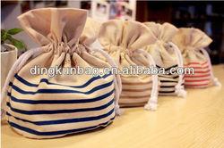 Hot selling colorful printed drawstring cotton canvas bag