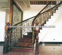high quality wrought iron villa stair s-005