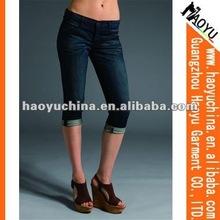 2015Hot sale fashion cotton d jeans for women(HYW223)
