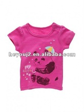 Breathable 100% cotton embroidered children tee shirt