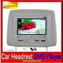 Hot 7'' Headrest Car DVD player with IR/FM transmitter