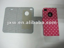 round dot wallet leather case for iphone 4s