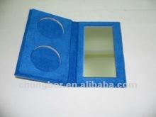 red elegant velvet Paper Eyeshadow Palette case with Magnet Closure