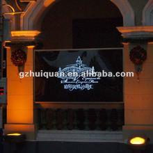 2012 high quality outdoor crystal acrylic led slim lightbox
