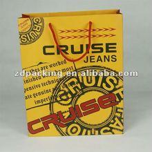 2012 yellow new design paper bag export