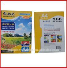 JOJO Hight Glossy Inkjet A4 Photo Paper