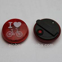 Round LED Bike Safety Light