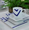 Ikea style dinnerware sets/ ceramic dinnerware set/ white ceramic dinnerware