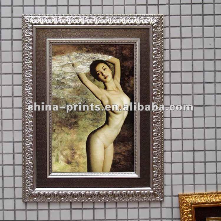 เซ็กซี่ร้อนสาวเปลือยภาพวาดศิลปะบนผืนผ้าใบ