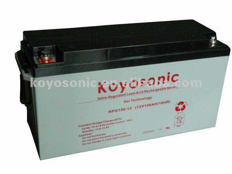 2014 Hotselling 12 V baterias de Gel 150AMP