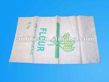 plastic woven pp high quality flour sack