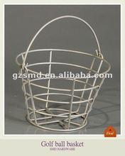 Metal chrome golf ball basket