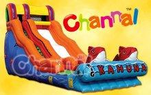 Kids favorite Big kahuna inflatable fish water slide for sale