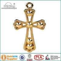 Catholic Gold Plated Small Metal Cross