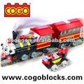 cogo plástico blocos de construção de brinquedo trem jogos educativos