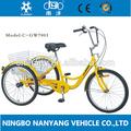 2014 venda quente adulto triciclo/24 polegadas único velocidade 7001-1s triciclo