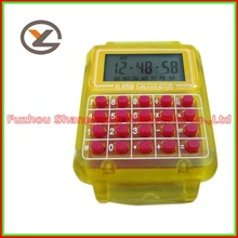 New Unique LCD Multifunctional Alarm Calculator Watch Chronograph