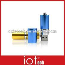 Gift Use Metal Battery Shape Logo Engrave USB Disk 2GB